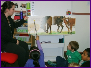 Kids shared reading with teach and other kids
