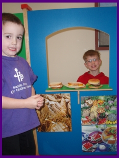 Kids play at dramatic play area